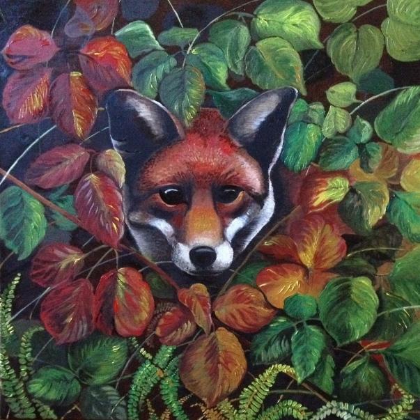 Fox in oils