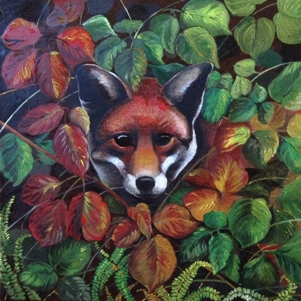 Fox in oils